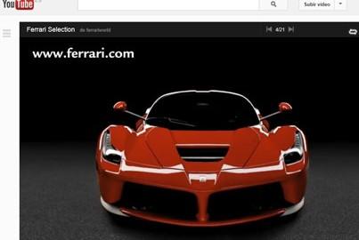 Ferrari en Youtube.