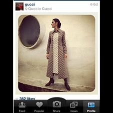 Gucci en Instagram-