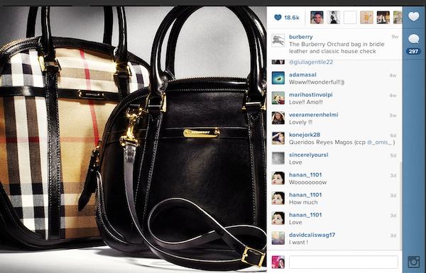 Burberry en Instagram.