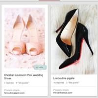 Fotos den zapatos de Louboutin pintadas.
