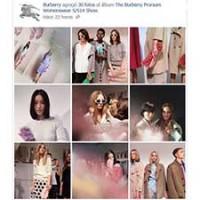 Imágenes de la presentación en Londres de la colección primavera-verano 2014 de Burberry, compartidas en Facebook.