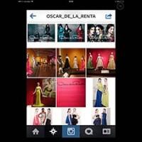 Óscar de La renta en Instagram.