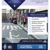 Búsqueda por París de un frasco de Thierry Mugler en Facebook
