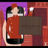 Imagen promocional de Louise Vuitton para promocionar su m-commerce.