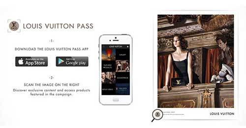Aplicación Louis Vuitton  disponible en la App Store y en Google Play.