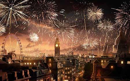 Felicitación de Año Nuevo de Burberry.