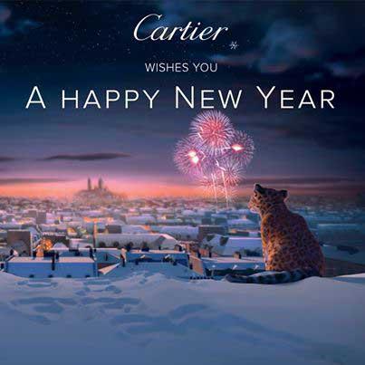 Felicitación de Año Nuevo de Cartier.