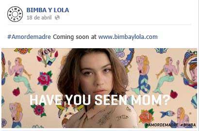 Bimba y Lola generando expectativa en Facebook.
