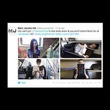 Collage de Marc Jacobs en Twitter.