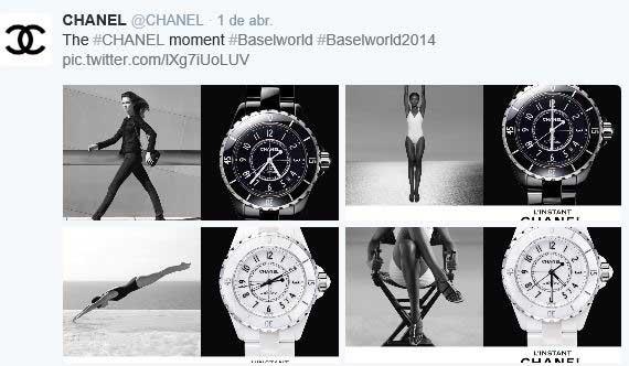 Collage de fotos de Chanel realizado con la nueva herramienta de Twitter.