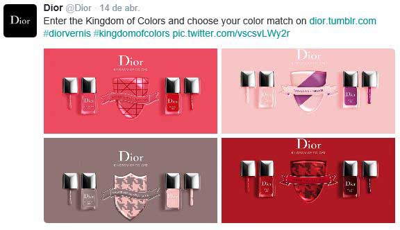 Collage de Dior en Twitter.