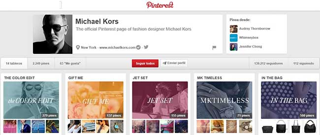 Michael Kors en Pinterest.