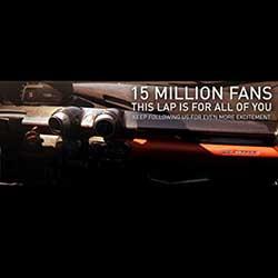 Ferrari celebra los 15 millones de fans en Facebook dedicA?ndoles el vAi??deo de una vuelta a bordo de un LaFerrari