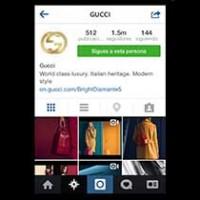 Gucci en Instagram.