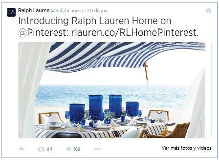 Post compartido en Twitter para dar a conocer el nuevo perfil en Pinterest.