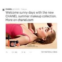 Tweet de Chanel en Twitter.