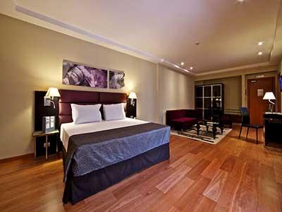 Una de las habitaciones del hotel Eurostars Roma Aeterna donde se alojarán los ganadores del concurso.