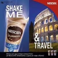 Imagen compartida por Nescafé y Eurostars para promocionar el concurso de Shakissimo.