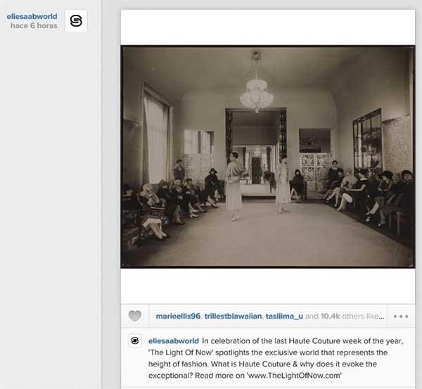 Elie Saab dirige a sus seguidores en Instagram a entrar en su revista digital The Light Of Now para que conozcan su colecciA?n de alta costura.