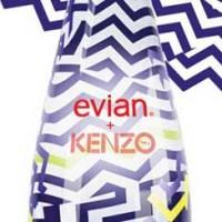 Imagen que refleja la colaboración de Evian y Kenzo para diseñar la nueva botella de edición limitada.