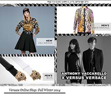 Captura de pantalla de la web de Versace.