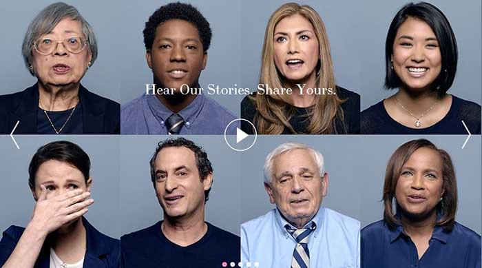 Captura de pantalla de la web creada por Estee Lauder para la Campaña de Prevención del Cáncer de Mama que lleva su nombre.