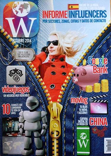 Ejemplar de la revista que contiene el Informe Influencers 2014 elaborado por Woguers Academy.