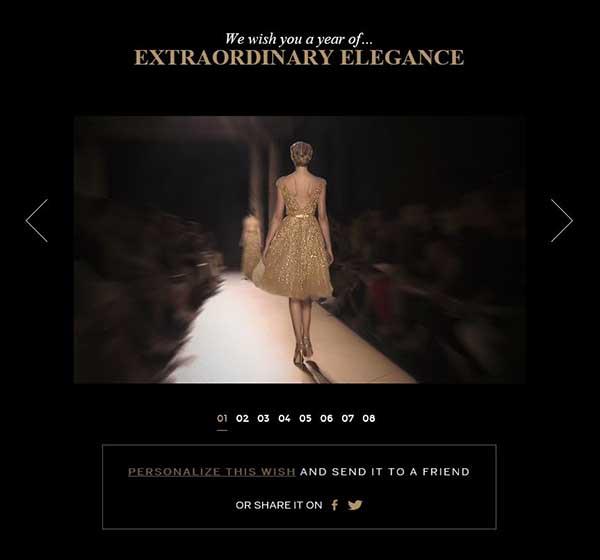 Así se puede compartir el primer deseo que ofrece Elie Saab, 'extraordinaria elegancia'.