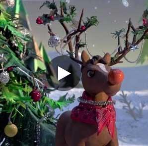 HermA?s reescribe en un vAi??deo de animaciA?n la historia de Rudolph, el reno de Santa Claus