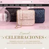 Captura de pantalla de la página web de Tous esta Navidad.