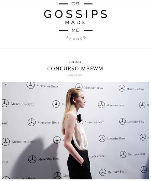 Difusión del concurso en un post del blog Gossips made me famous.