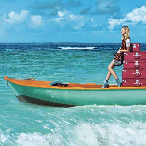 Imagen de la campaAi??a Spirit of Travel de Louis Vuitton.
