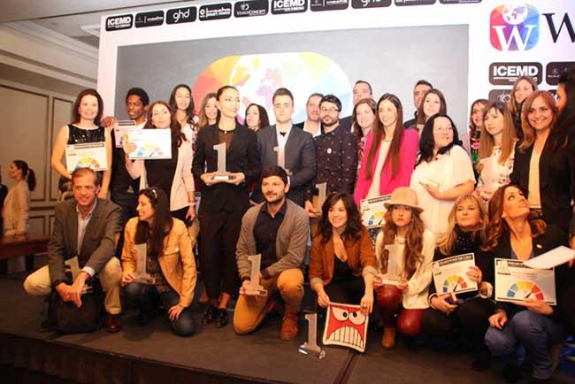 Todos los premiados con los premios Wloggers 2015.