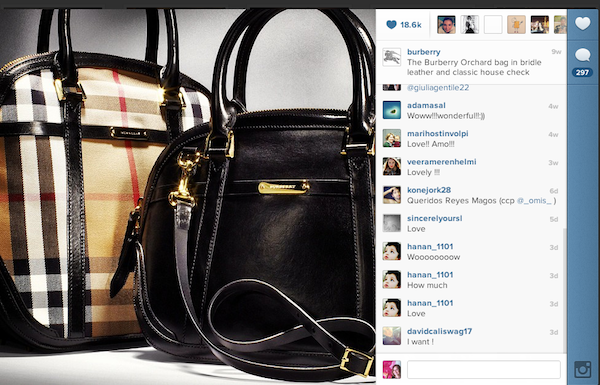 Burberry en Instagram.