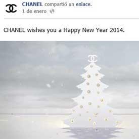 5 Felicitaciones de AAi??o Nuevo de las marcas de lujo en Social Media