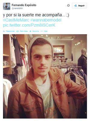Uno de los participantes en el casting a travAi??s de Twitter.