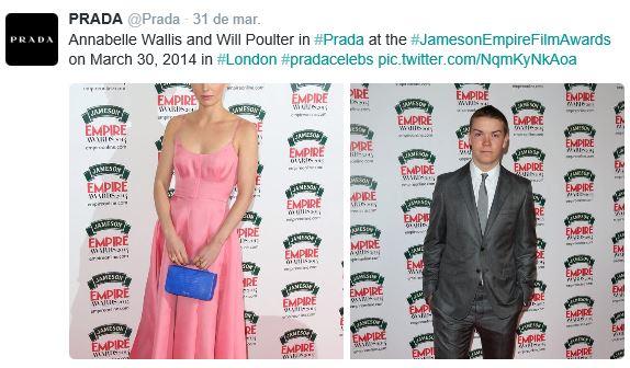 Collage de fotos tomadas en los Jameson Empire Film Awards.