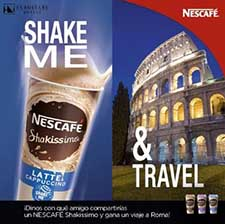 Eurostars colabora con NescafAi?? en un concurso en Facebook para promocionar el cafAi?? Shakissimo