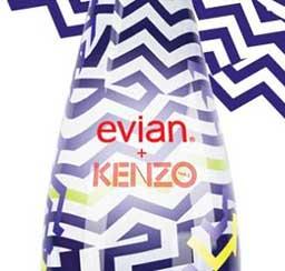 Evian y Kenzo presentan en las redes sociales una nueva botella diseAi??ada en colaboraciA?n