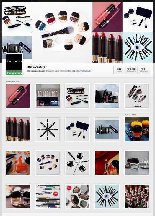 Captura de pantalla de la pA?gina de Marc Beaty en Instagram desde un PC. Arriba, en biografAi??a, en enlace acortado que lleva a la landing page.